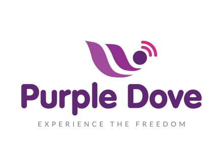 Purple Dove Logo Design