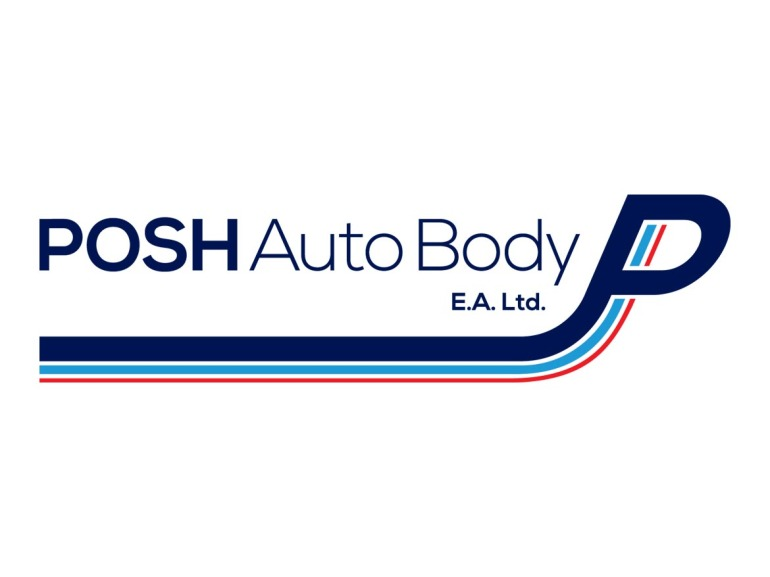 POSH Auto Body Logo Design